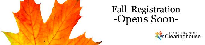 Fall Registration Opens soon